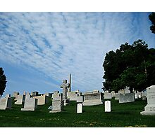 Hillside Graves Photographic Print
