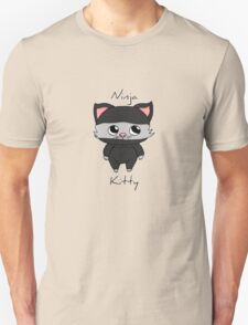 Cute ninja kitty Unisex T-Shirt