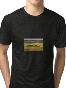 The South Downs, Hampshire, England. UK Tri-blend T-Shirt