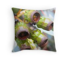 Eucalypt Gumnuts on Wilber Throw Pillow