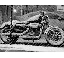 Light Snow in Downtown Atlanta Motor bike by Faith Swift
