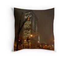 Light Snow in Downtown Atlanta Throw Pillow