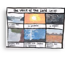 Psalm 29: The voice of the Lord Canvas Print