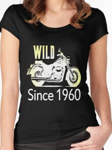 50th Birthday Gifts, Wild Since 1960! Women's Fitted Scoop T-Shirt