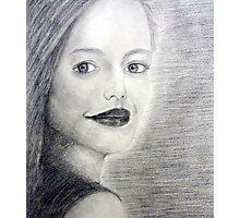 Graphite Pencil Portrait - Charming Photographic Print