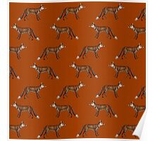 Mr Fox on Russet Red Poster