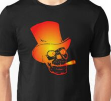 Skull in Top Hat by Chillee Wilson Unisex T-Shirt