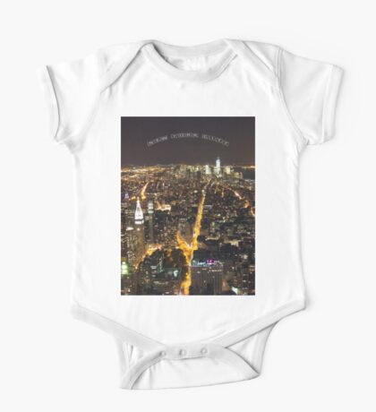Downtown Manhattan At Night One Piece - Short Sleeve