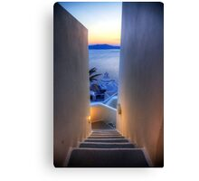 Steps To The Caldera Canvas Print
