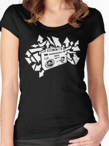 Boombox dark shirts edition Women's Fitted Scoop T-Shirt