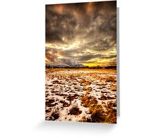 Snow and Clouds Sunset Greeting Card