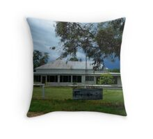 Storm brewing behind Wilber Farmhouse Throw Pillow