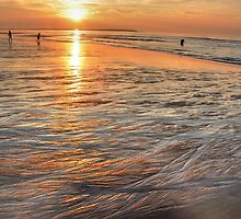 Clam-Digging - Sunrise at OOB by Poete100
