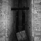 Milan. Castello Sforzesco Gate Mechanism in black and white by Igor Pozdnyakov