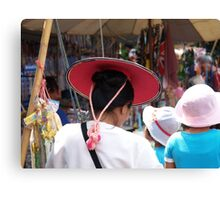 Shan lady in hat Canvas Print