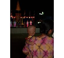 Baby watching Shan girls dancing Photographic Print