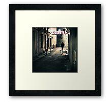 Soldes en Arles - Arles, France - 2010 Framed Print
