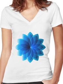 Abstract Digital Star Women's Fitted V-Neck T-Shirt