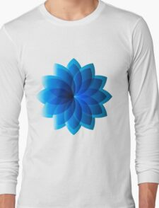 Abstract Digital Star Long Sleeve T-Shirt