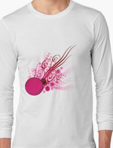 Abstract Digital Pink Bubbles Long Sleeve T-Shirt