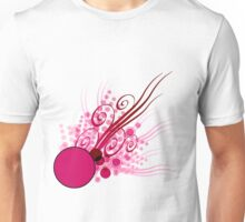 Abstract Digital Pink Bubbles Unisex T-Shirt