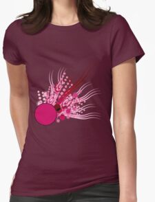Abstract Digital Pink Bubbles Womens Fitted T-Shirt