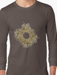 Abstract Digital Baroque Swirls Long Sleeve T-Shirt