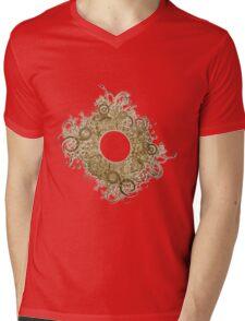 Abstract Digital Baroque Swirls Mens V-Neck T-Shirt