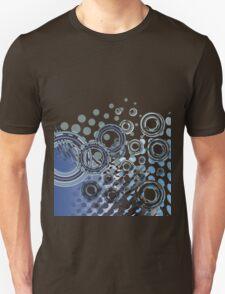 Abstract Digital Blue Bubbles T-Shirt