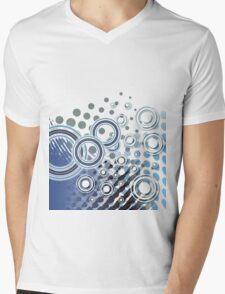 Abstract Digital Blue Bubbles Mens V-Neck T-Shirt