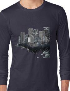 Abstract Digital Urban Setting Long Sleeve T-Shirt