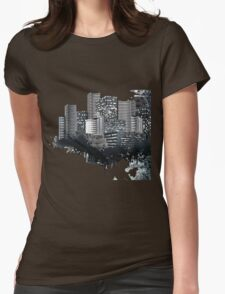 Abstract Digital Urban Setting Womens Fitted T-Shirt