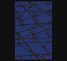 Barbed Wire [Blue] by Chillee Wilson Baby Tee