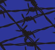 Barbed Wire [Blue] by Chillee Wilson Sticker