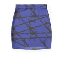 Barbed Wire [Blue] by Chillee Wilson Mini Skirt