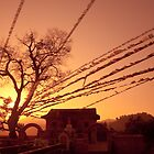 sunrise over Manjushree hill, Kathmandu by SRana