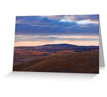Sunset over Mount Barker Summit - Adelaide Hills Greeting Card