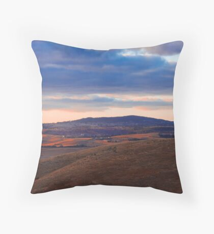 Sunset over Mount Barker Summit - Adelaide Hills Throw Pillow