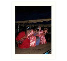 Shan girls dancing - 3 Art Print