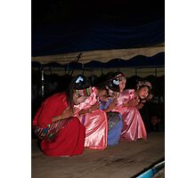 Shan girls dancing - 3 Photographic Print