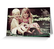 Grunge Tilly and Harry Greeting Card