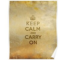 Keep Calm and Carry One Old Vintage Background Poster