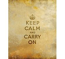 Keep Calm and Carry One Old Vintage Background Photographic Print