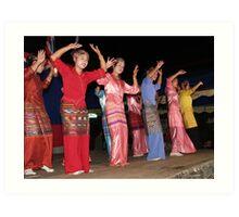 Shan girls dancing - 4 Art Print