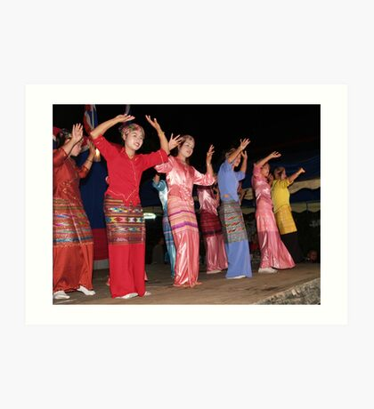 Shan girls dancing - 4 Art Print