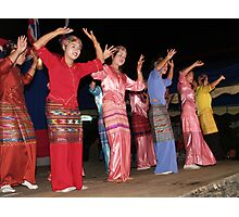 Shan girls dancing - 4 Photographic Print