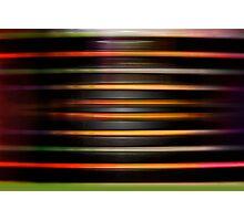 Horizontal plastic lines Photographic Print
