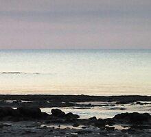 Dawn on the rocks by Hélène David-Cuny