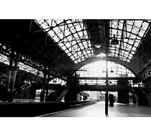 Manchester Station - Black and White Photographic Print