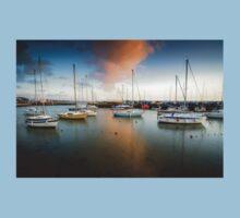Sunset at Titchfield Harbour, England. UK Kids Tee